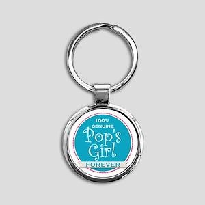 100% Pop's Girl Round Keychain