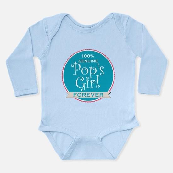 100% Pop's Girl Long Sleeve Infant Bodysuit