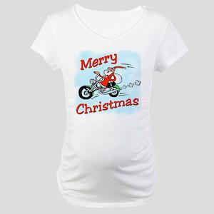 Motorcycle Santa Maternity T-Shirt