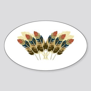 Fall Color Feathers Sticker