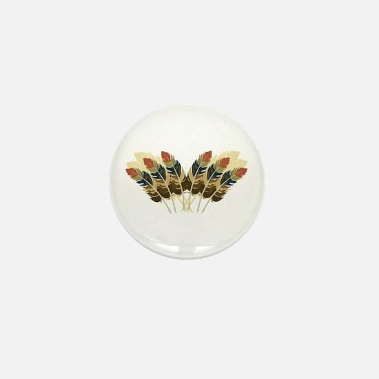 Fall Color Feathers Mini Button