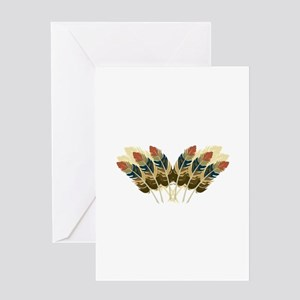Fall Color Feathers Greeting Cards