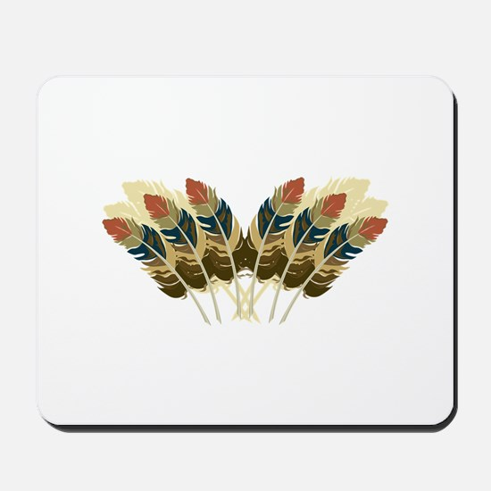 Fall Color Feathers Mousepad