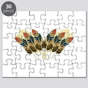 Fall Color Feathers Puzzle