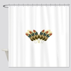 Fall Color Feathers Shower Curtain