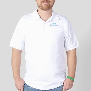 Due In November - Blue Golf Shirt