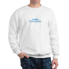 Due In November - Blue Sweatshirt