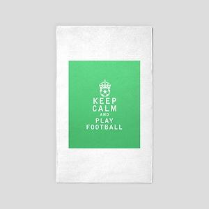 Keep Calm and Play Football 3'x5' Area Rug