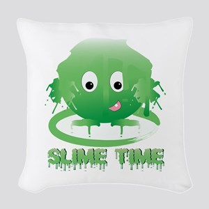 Slime Time Woven Throw Pillow