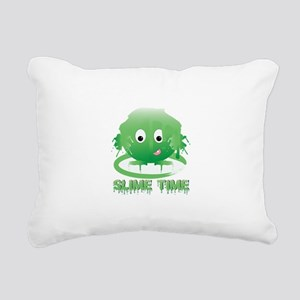 Slime Time Rectangular Canvas Pillow