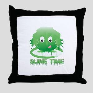 Slime Time Throw Pillow