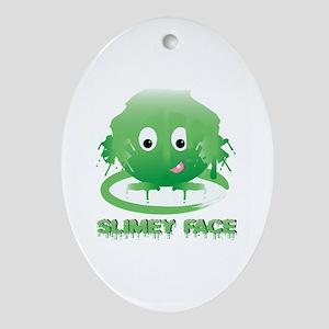 Simley Face Ornament (Oval)