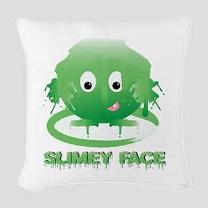 Simley Face Woven Throw Pillow