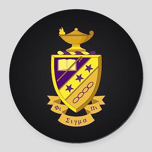 Phi Sigma Pi Crest Round Car Magnet
