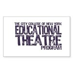 CCNY Educational Theatre Sticker
