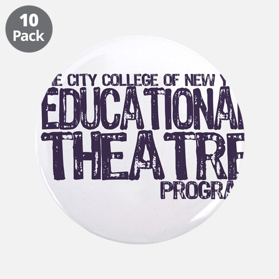 "CCNY Educational Theatre 3.5"" Button (10 pack)"