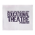 CCNY Educational Theatre Throw Blanket