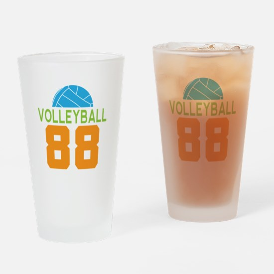Volleyball player number 88 Drinking Glass