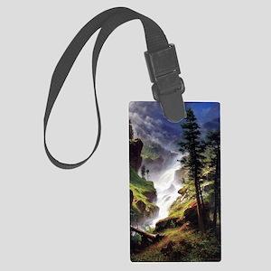 Rocky Mountain Waterfall Large Luggage Tag