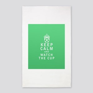 Keep Calm and Watch The Cup 3'x5' Area Rug