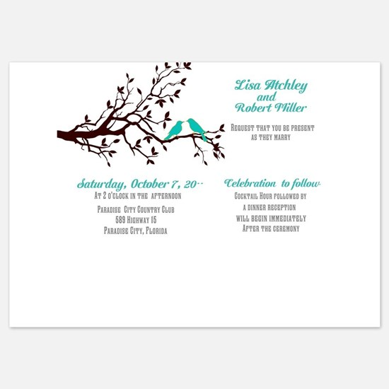 Lovebirds In A Tree Wedding Invitations Invitation