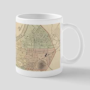Vintage Map of Nashville Tennessee (1877) Mugs
