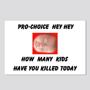 HEY PRO-CHOICE Postcards (Package of 8)