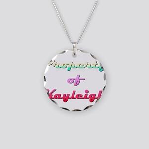 Property Of Kayleigh Female Necklace Circle Charm