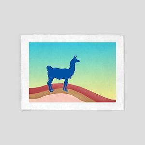 Sunrise Hills Llama sq xl 5'x7'Area Rug
