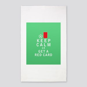 Keep Calm or Get a Red Card 3'x5' Area Rug