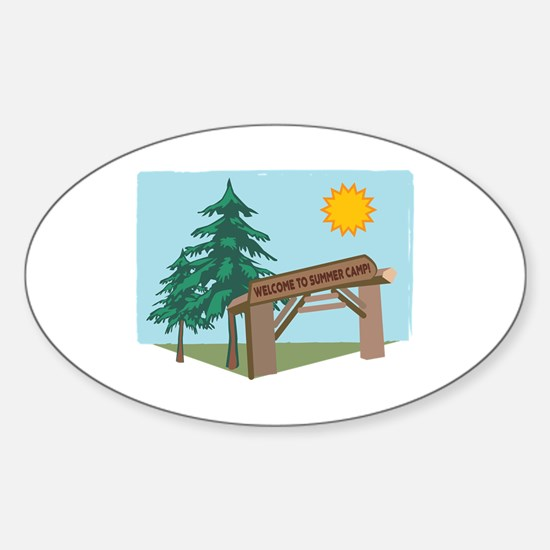 Welcome To The Summer Camp! Decal