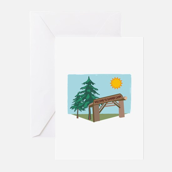 Welcome To The Summer Camp! Greeting Cards