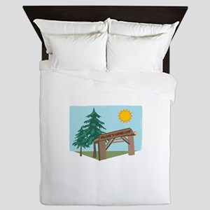 Welcome To The Summer Camp! Queen Duvet