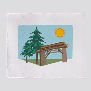 Welcome To The Summer Camp! Throw Blanket