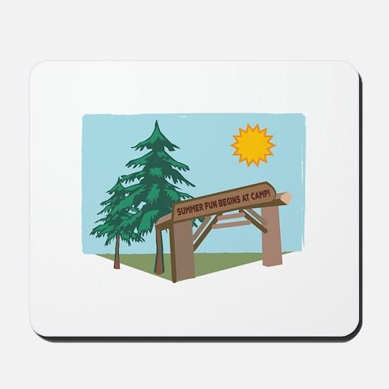 Summer Fun Begins At Camp! Mousepad