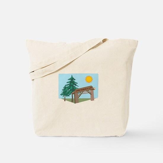 Summer Fun Begins At Camp! Tote Bag