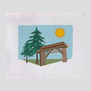 Summer Fun Begins At Camp! Throw Blanket