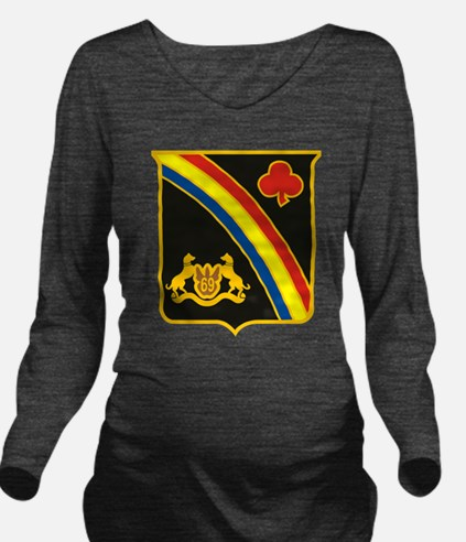 69th ID Crest.png Long Sleeve Maternity T-Shirt