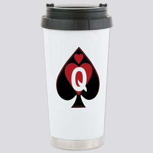 Queen of spades loves BBC-red2 Travel Mug