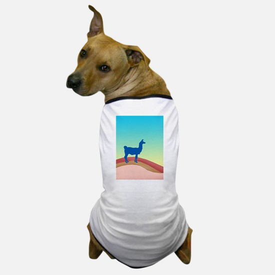Sunrise Hills Llama tl3 Dog T-Shirt