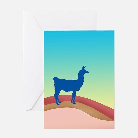 Sunrise Hills Llama tl3 Greeting Cards