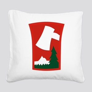 70th ID Square Canvas Pillow