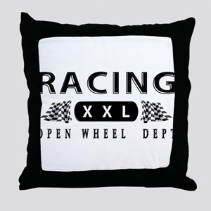 Open Wheel Racing Throw Pillow
