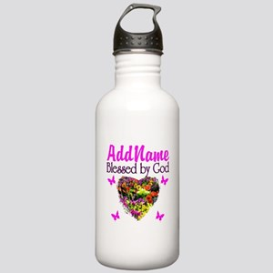 BLESSED BY GOD Stainless Water Bottle 1.0L