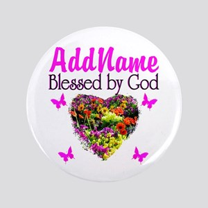 """BLESSED BY GOD 3.5"""" Button"""