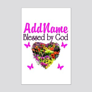 BLESSED BY GOD Mini Poster Print