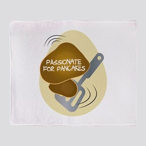 Passionate For Pancake Throw Blanket