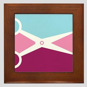Pop Art Scissors Framed Tile