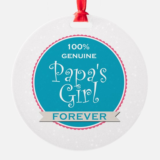 100% Papa's Girl Ornament