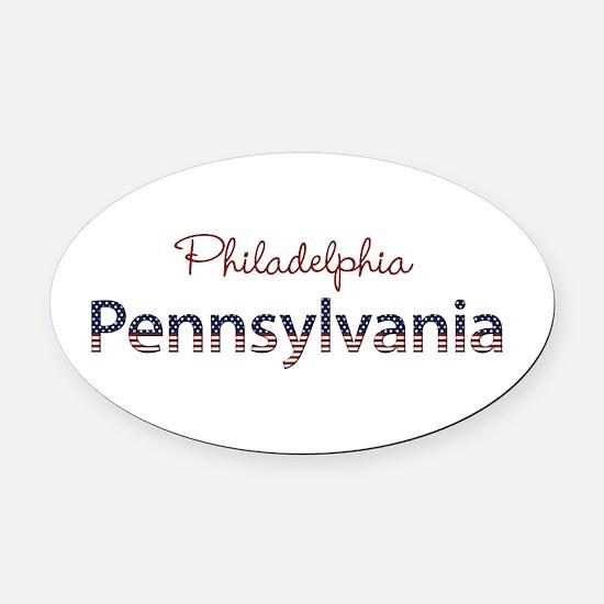 Custom Pennsylvania Oval Car Magnet